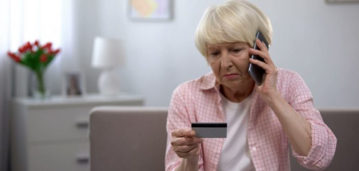 Elderly Women, Mobile Phone Credit Card