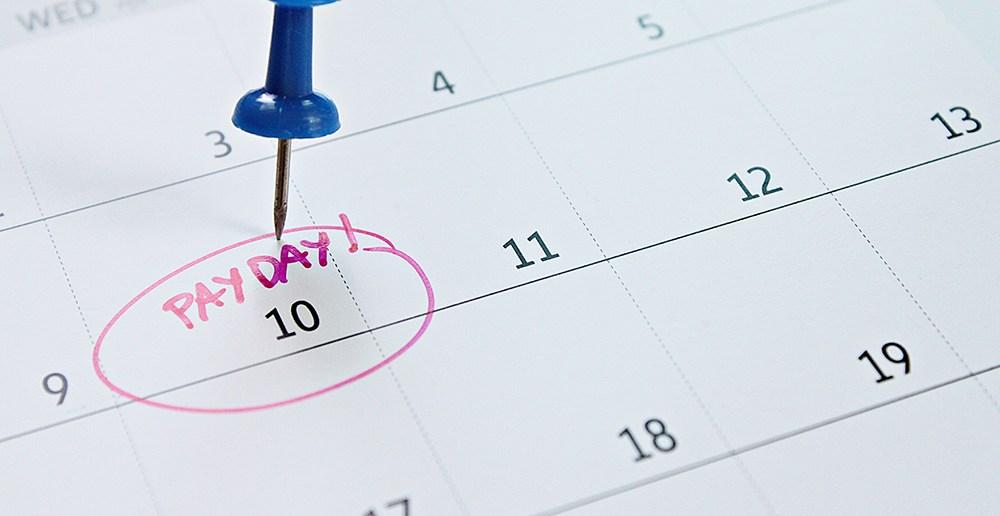 Calendar circling payday