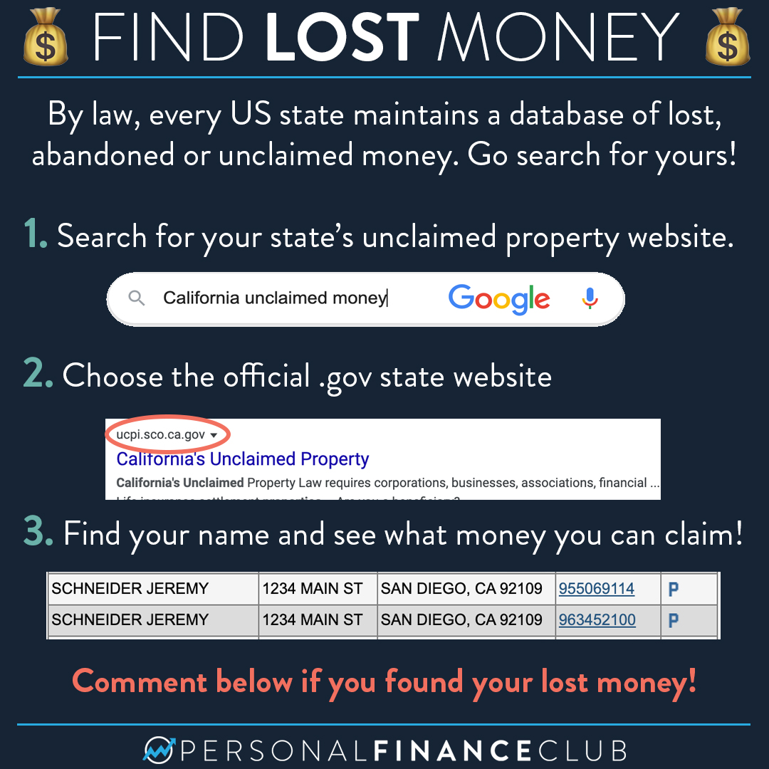 Escheat - Find lost money