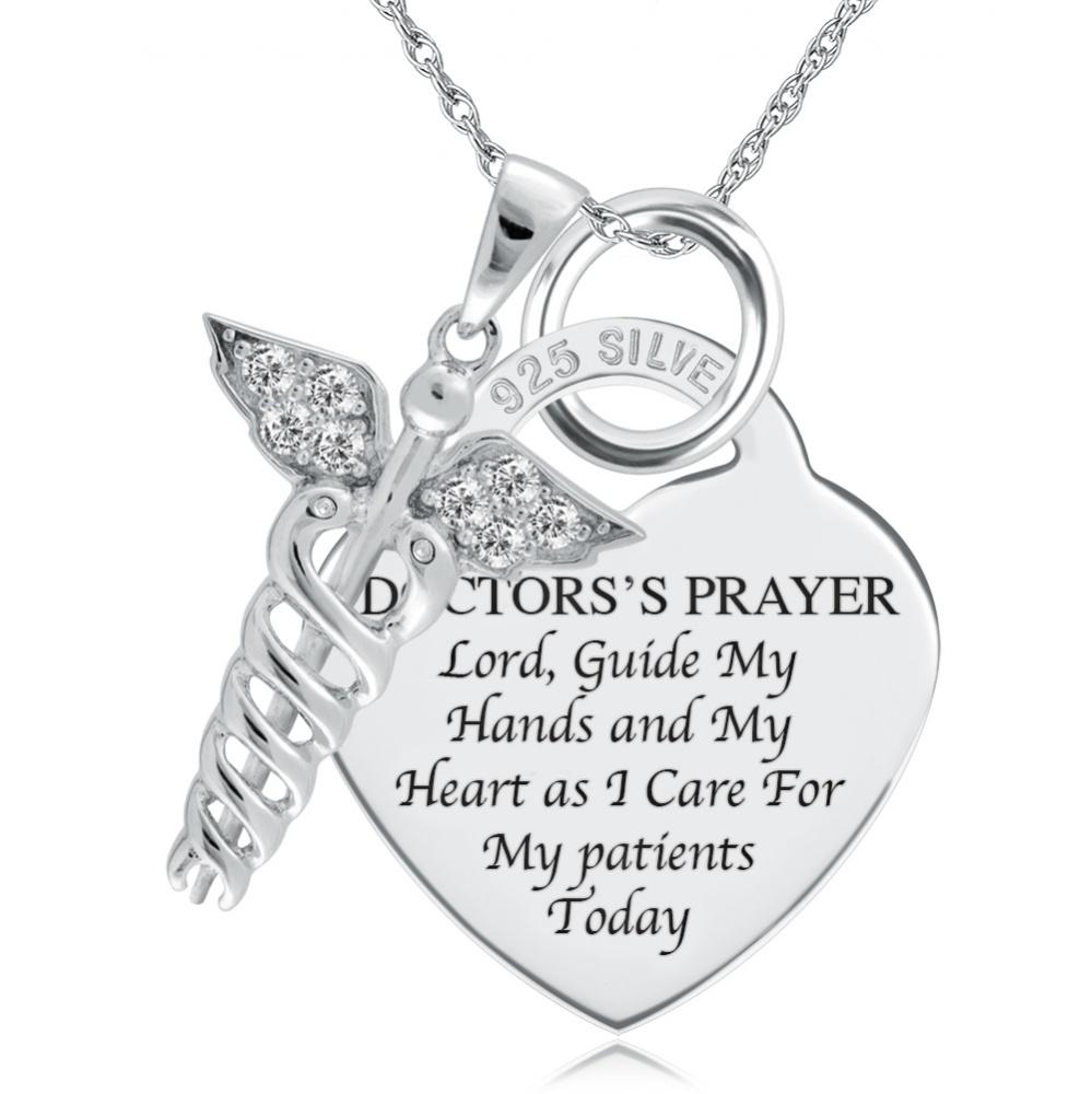 Nurse, Doctor or Paramedic Graduation Necklace, Personalised
