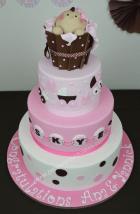 3 tier baby shower cake