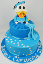 Baby Donald Duck Christening Cake
