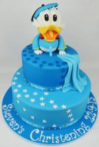 Baby Donald Duck Christening Cake