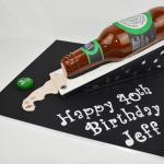 3D beer bottle cake