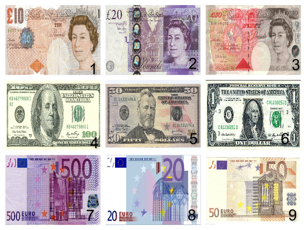 Personalised Bank Notes Money Dollars And Euros Edible