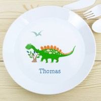 Personalised Dinosaur Plastic Plate - Children's Dining Sets