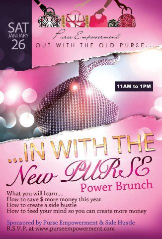 Flyer for Purse Empowerment Power Brunch  Personality Web Designs