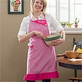 Personalized Kitchen Aprons - Gingham - 10157