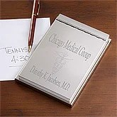 Engraved Silver Notepad for Doctors - 10557