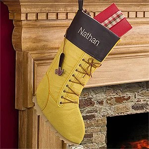 Personalized Christmas Stockings Work Boot Christmas Gifts