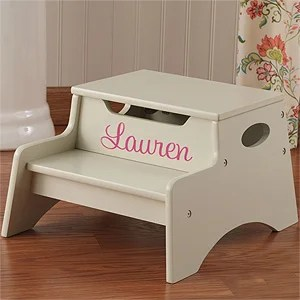kid craft kitchen waffle weave towels personalized step stool for kids - vanilla gifts