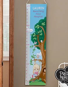 Personalized girls growth chart precious moments also rh personalizationmall