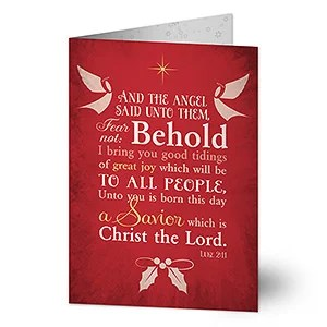 Personalized Religious Christmas Cards Glory To God