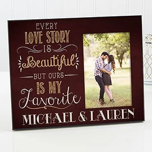 Personalized Picture Frame Romantic Our Love Story