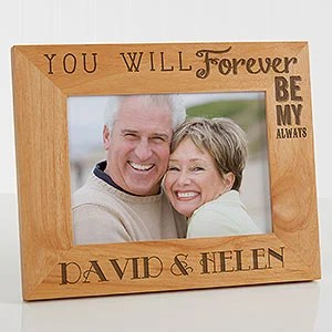 Personalized Wood Picture Frame 5x7 Love Quotes