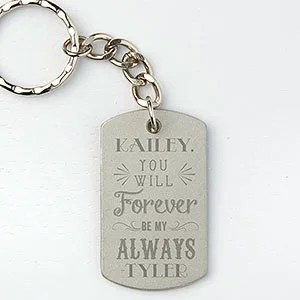 Personalized Dog Tag Keychain Love Quotes