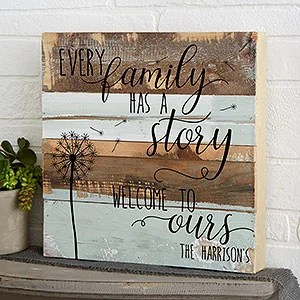 family story x personalized reclaimed wood wall art for the home