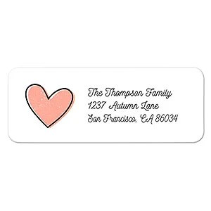 sweet heart address labels