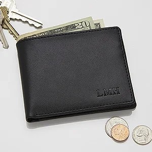 Regent Personalized Leather Bi-Fold Wallet