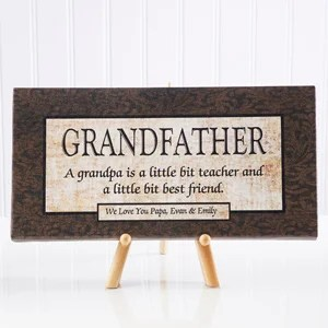 grandfather personalized canvas print