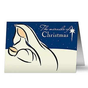 Personalized Mary Amp Jesus Catholic Christmas Cards