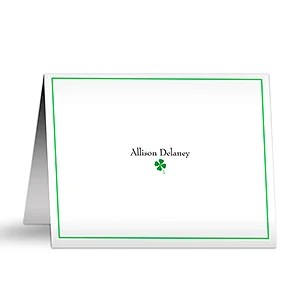 Personalized Four Leaf Clover Note Cards & Envelopes