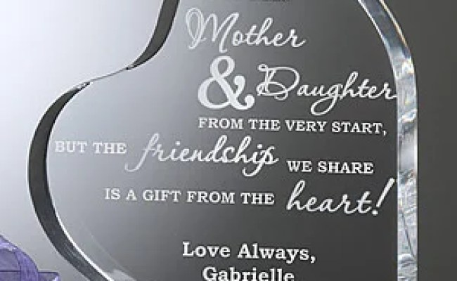 Mother Daughter Keepsake Heart Personalized Gift