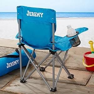 Kids Personalized Folding Chairs  Blue