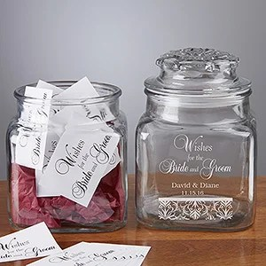 Wedding Wishes Personalized Keepsake Jar
