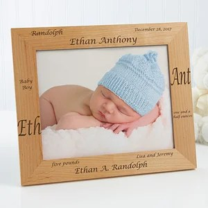 Details About Personalised New Baby Birth Christening Boy
