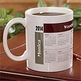 Personalized Calendar Coffee Mugs - Initial Impressions Design - 4245