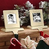Personalized Picture Frame Christmas Stocking Holder ...