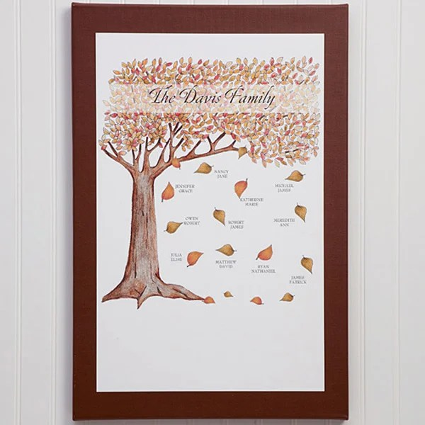 personalized fall family tree