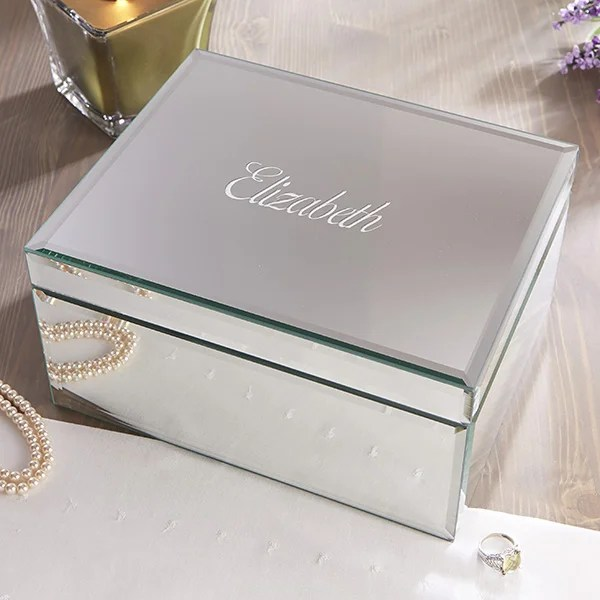 personalized mirrored jewelry boxes