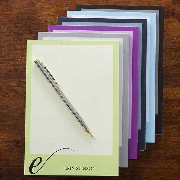 stylish monogram personalized notepad