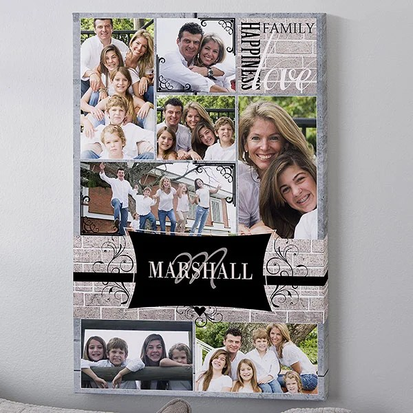 custom photo collage canvas