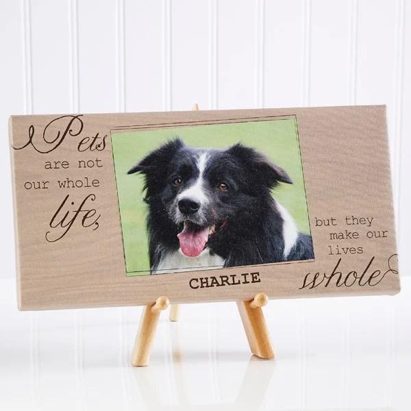 personalized pet photo canvas