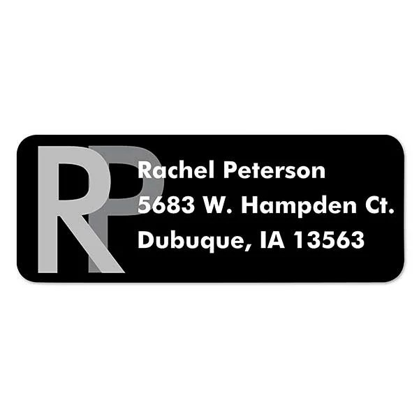 large monogram return address