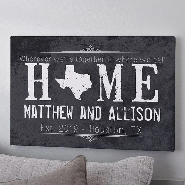 personalized canvas prints state