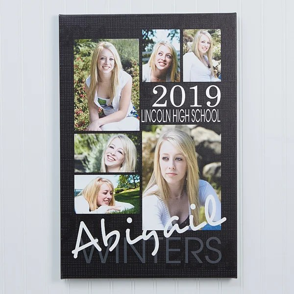 personalized canvas prints graduation