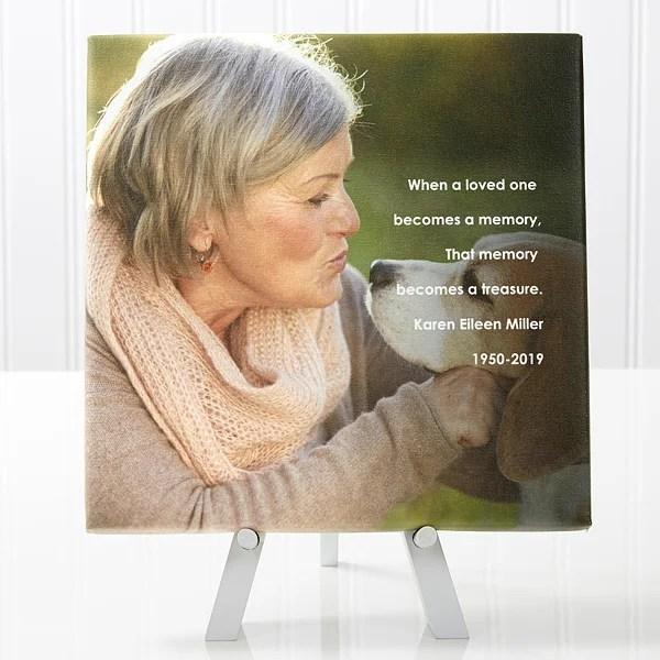 personalized memorial canvas prints