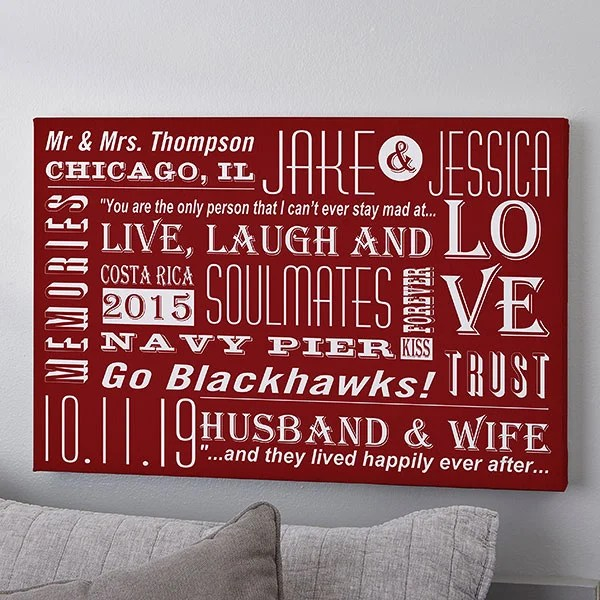 personalized canvas print wall