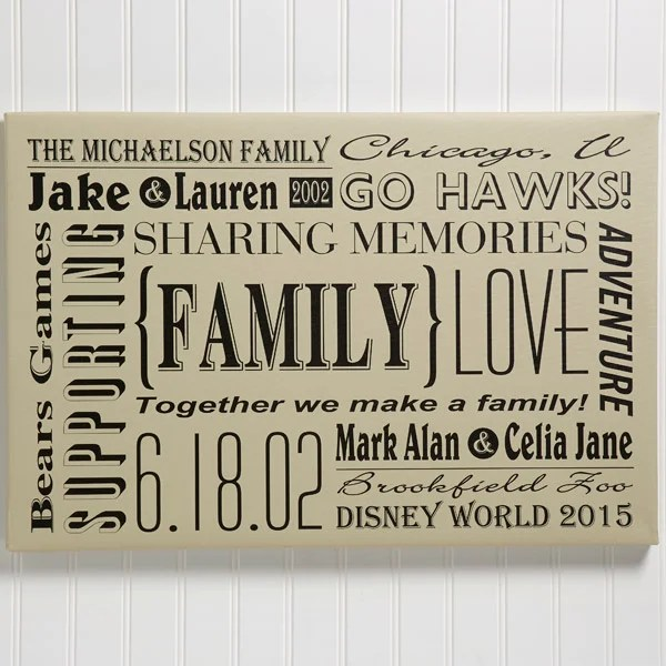 our family 12x18 personalized