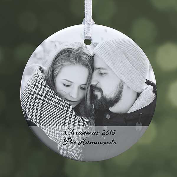 personalized photo sentiments ornament