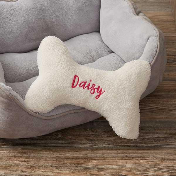 personalized dog bone pet pillow small