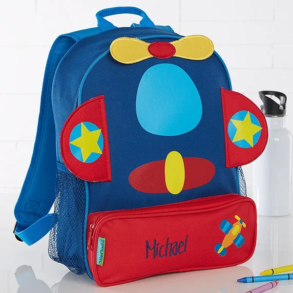airplane embroidered sidekick backpack