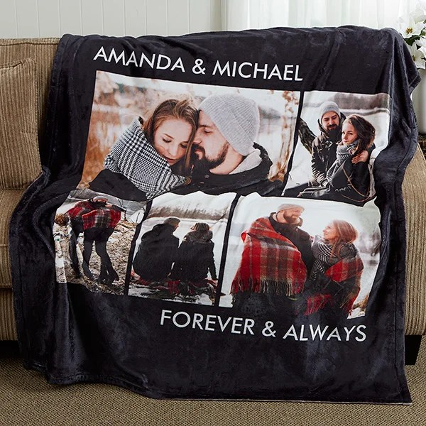 personalized photo fleece blankets