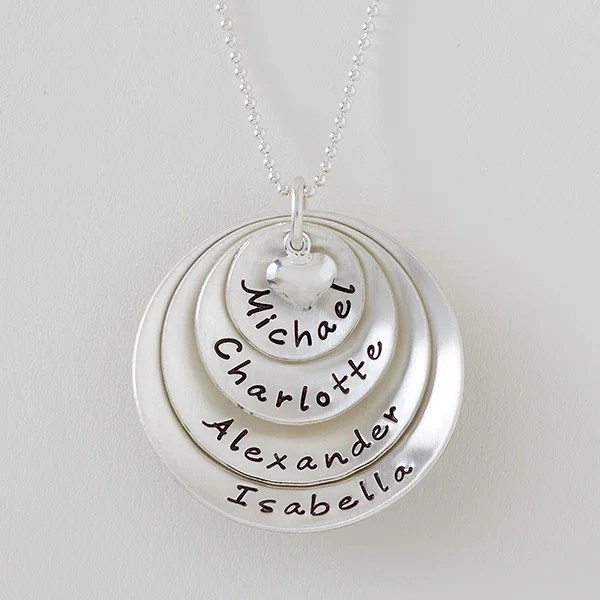 personalized necklaces layered love