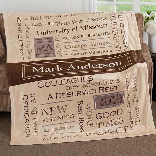 personalized retirement blanket 50x60