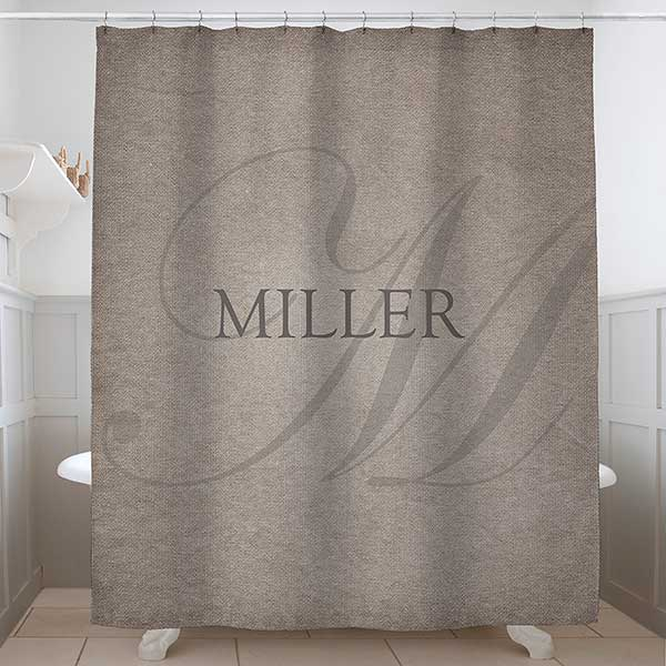 heart of our home personalized shower curtain